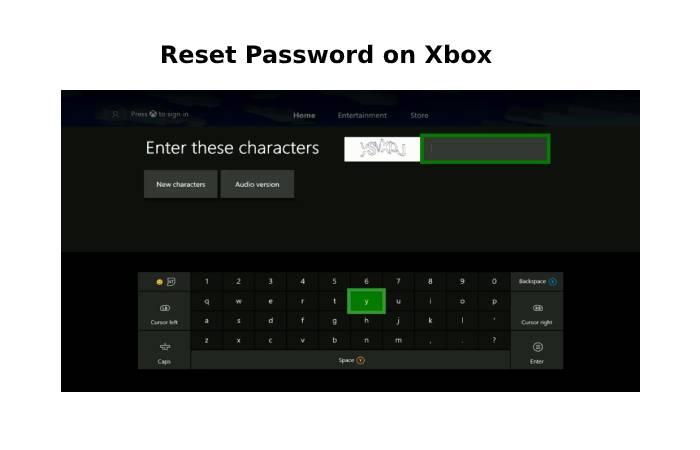 Xbox Live Password Reset