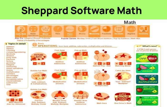 Sheppard Software Math