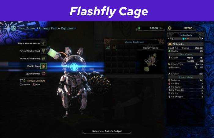 Flashfly Cage